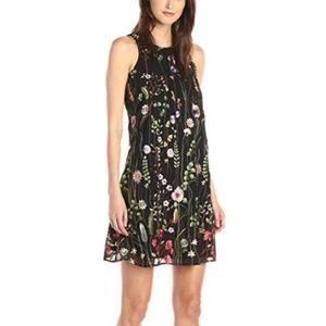 Calvin Klein Sleeveless Trapeze Dress - Black